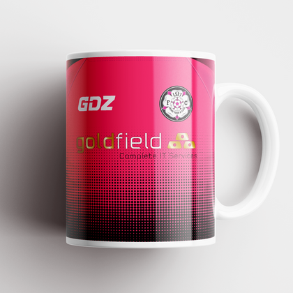 LS27 FC CERAMIC MUG BLACK/PINK GOLDFIELD - TheRetroHut
