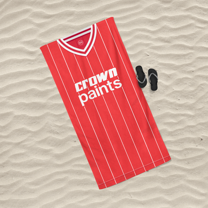 LIVERPOOL INSPIRED BEACH TOWEL 1982 HOME - TheRetroHut