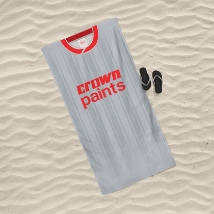 LIVERPOOL INSPIRED BEACH TOWEL 1987 AWAY - TheRetroHut