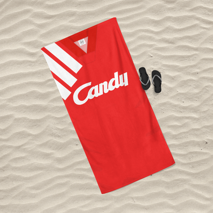 LIVERPOOL INSPIRED BEACH TOWEL 1991 HOME - TheRetroHut