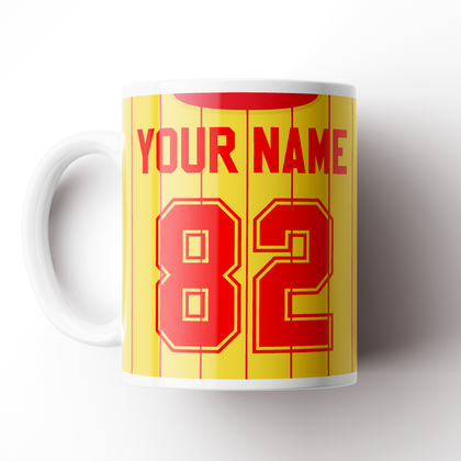 LIVERPOOL INSPIRED CERAMIC MUG 1982 AWAY - TheRetroHut