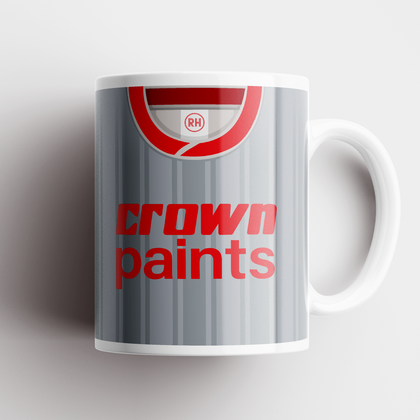 LIVERPOOL INSPIRED CERAMIC MUG 1987 AWAY - TheRetroHut