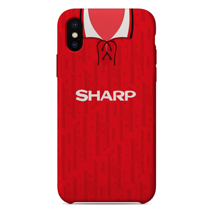 MANCHESTER UTD 1992 HOME KIT RETRO PHONE CASE - TheRetroHut