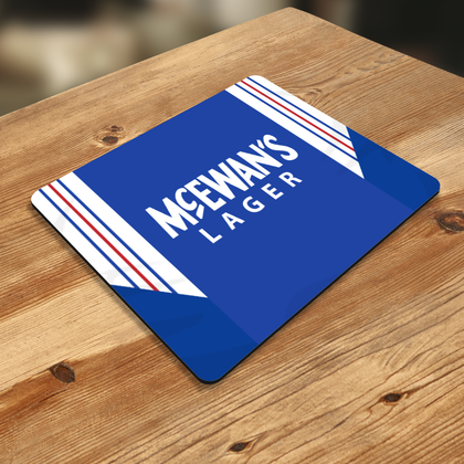 RANGERS MOUSE MAT 1995 HOME - TheRetroHut