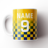 BEESTON JUNIORS OFFICIAL CERAMIC MUG BLUE/YELLOW NO SPONSOR
