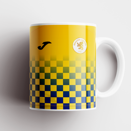 BEESTON JUNIORS OFFICIAL CERAMIC MUG BLUE/YELLOW NO SPONSOR - TheRetroHut