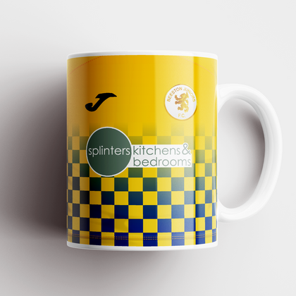 BEESTON JUNIORS OFFICIAL CERAMIC MUG BLUE/YELLOW SPLINTERS SPONSOR - TheRetroHut