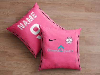 LS27 FC Cushion Pink - Onwards & Upwards Sponsor - TheRetroHut