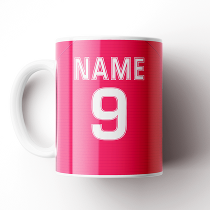 LS27 FC CERAMIC MUG PINK ONWARD & UPWARDS - TheRetroHut
