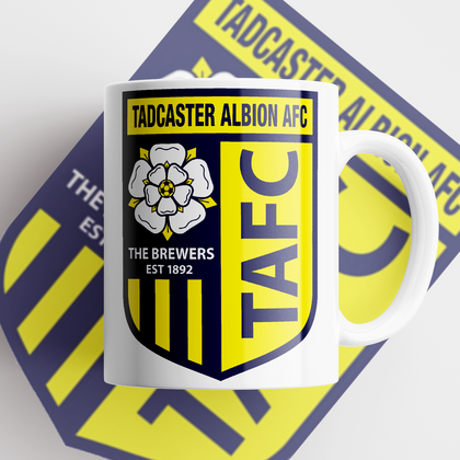 TADCASTER ALBION OFFICIAL CERAMIC MUG  CLUB BADGE - TheRetroHut
