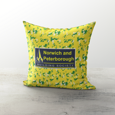 Norwich City 1992 Home Cushion - TheRetroHut