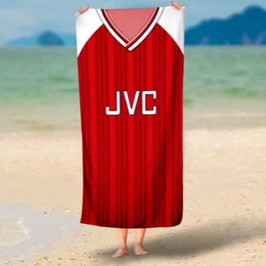 ARSENAL BEACH TOWEL 1992 HOME - TheRetroHut