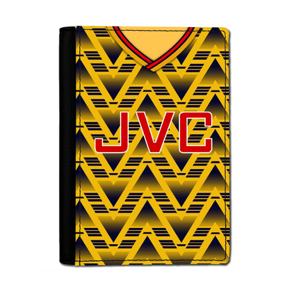 ARSENAL INSPIRED PASSPORT HOLDER 1991 AWAY - TheRetroHut