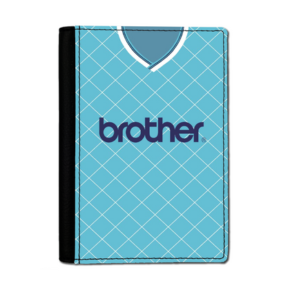 MANCHESTER BLUE PASSPORT HOLDER 1987 HOME - TheRetroHut