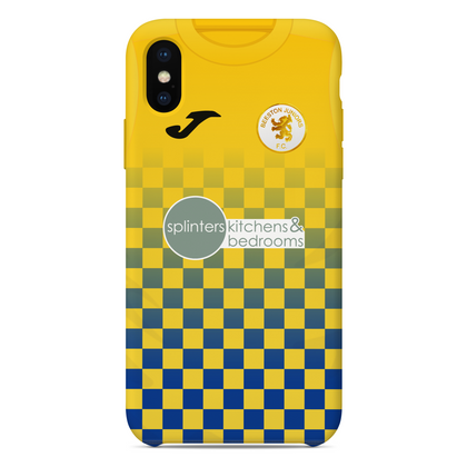 BEESTON JUNIORS OFFICIAL PHONE CASE BLUE/YELLOW SPLINTERS SPONSOR - TheRetroHut