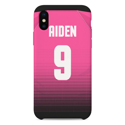 LS27 FC Phone Case Black/Pink - Back - TheRetroHut
