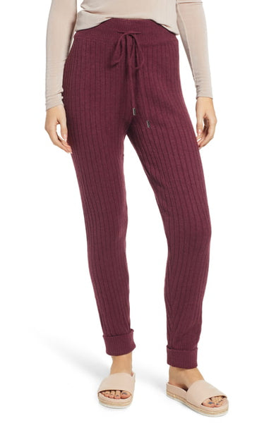 Free People Around the Clock Joggers - Wine