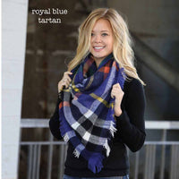 Funky Monkey Blanket Scarf - Royal Blue