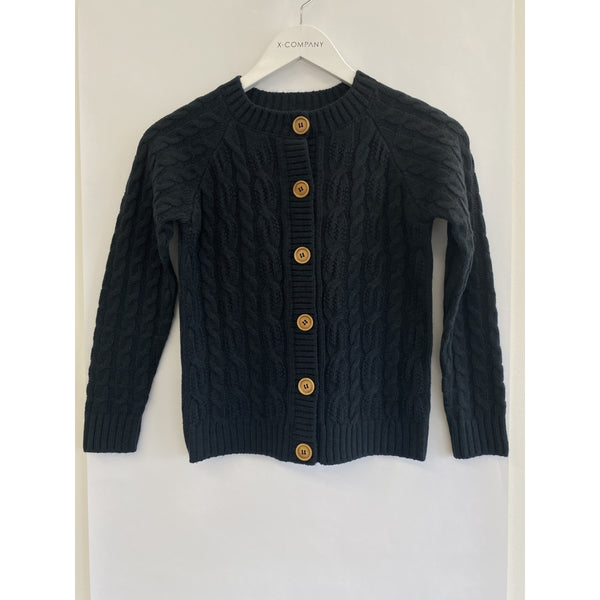 MID Youth Button Cardigan  - Deep Forest