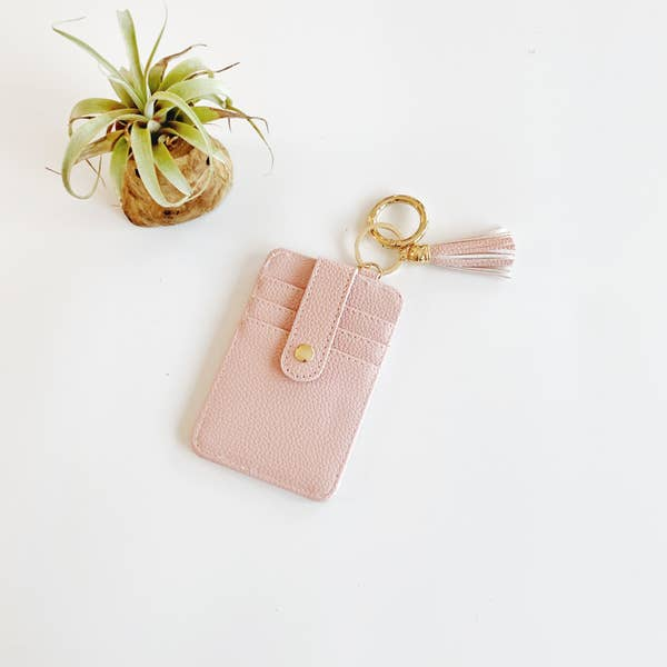 Funky Monkey Key Ring Wallet - Pink
