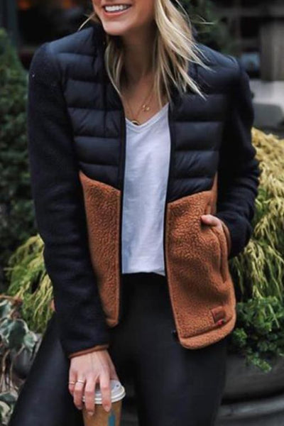 Quilted Bust Sherpa Jacket