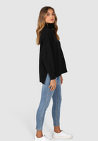 Lost in Lunar Wilson Knit Turtleneck - Black