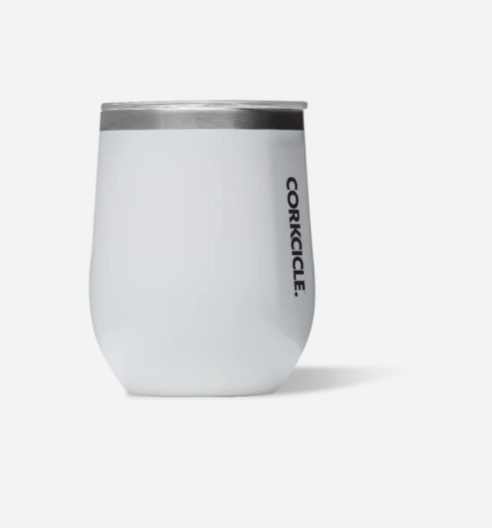 Corkcicle 12 oz. Stemless - Gloss White