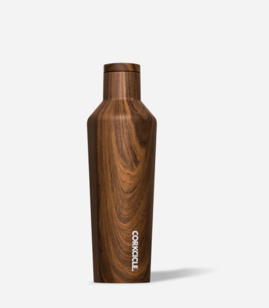 Corkcicle 16 oz. Metallic Canteen - Walnut Wood
