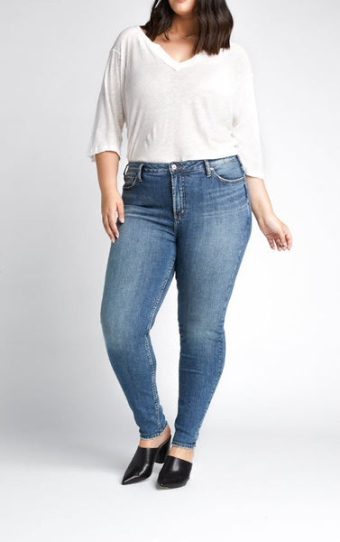 "Silver Jeans High Note Skinny Extended Sizing - 29"" Inseam"