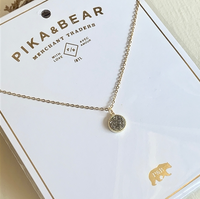 Pika & Bear Druzy Necklace - Silver