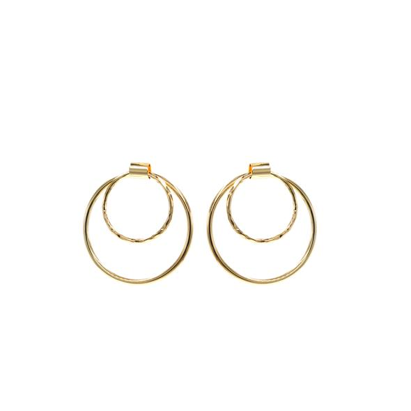 eLiasz and eLLa Fibonacci Hoop Earrings - Gold