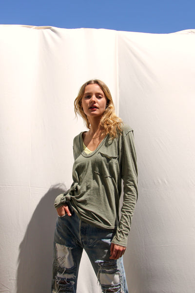 Free People Betty Long Sleeve - Military