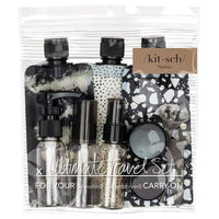 Kitsch Travel Pouch 11 pc. Set - Black