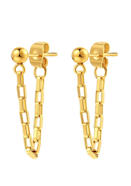 Happiness Boutique Bold Chain Earring - Gold