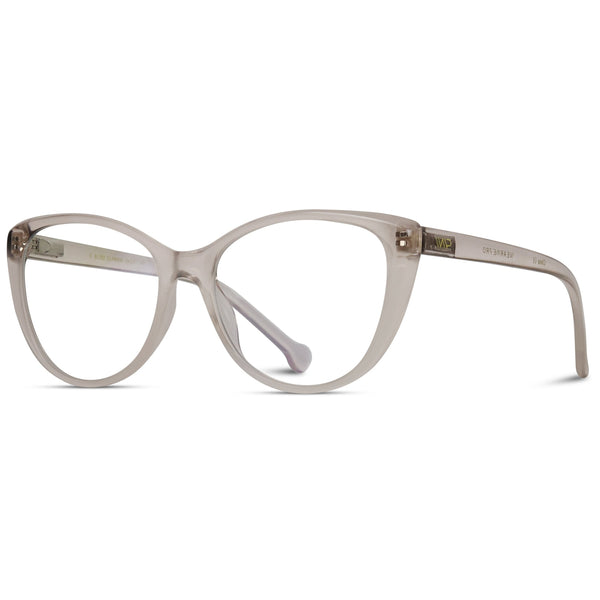 Daisy Blue Light Glasses - Clear Brown