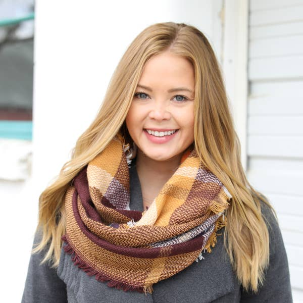 Funky Monkey Infinity Scarf - Golden Brown