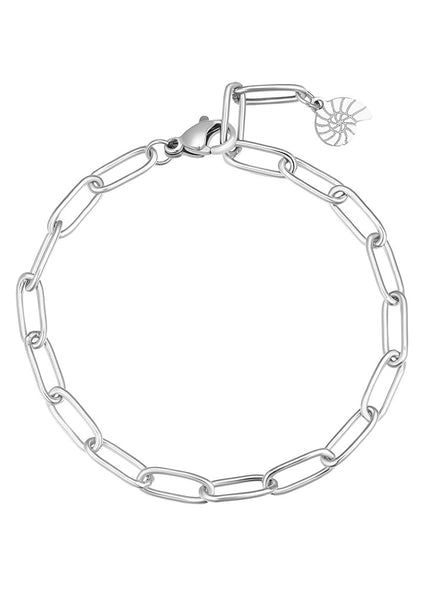 Happiness Boutique Chunky Chain Bracelet - Silver