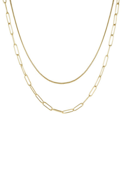Happiness Boutique Chunky Chain Layered Necklace - Gold