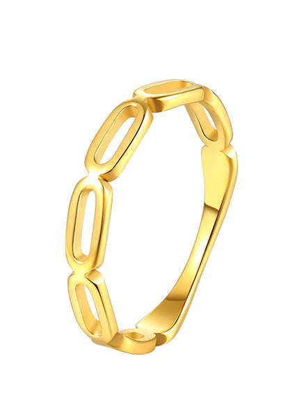 Happiness Boutique Chunky Chain Ring - Gold