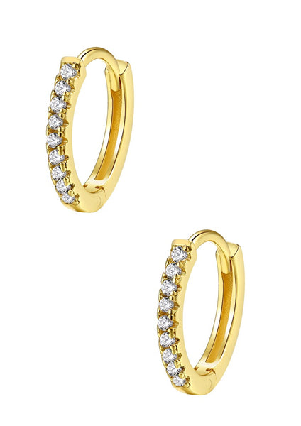 Happiness Boutique Clear Stone Earring - Gold