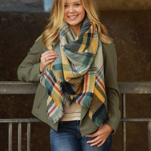 Funky Monkey Blanket Scarf - Muted Sunset