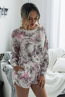 Matching Lounge Set - Grey and Pink Tie Dye