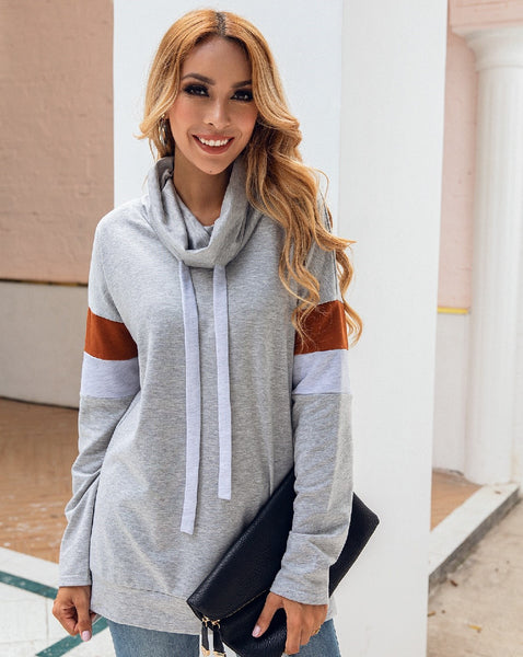 Grey Pullover Hoodie Tunic