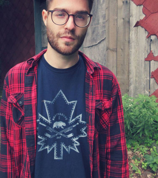 Northbound Maple Leaf Tee - Navy