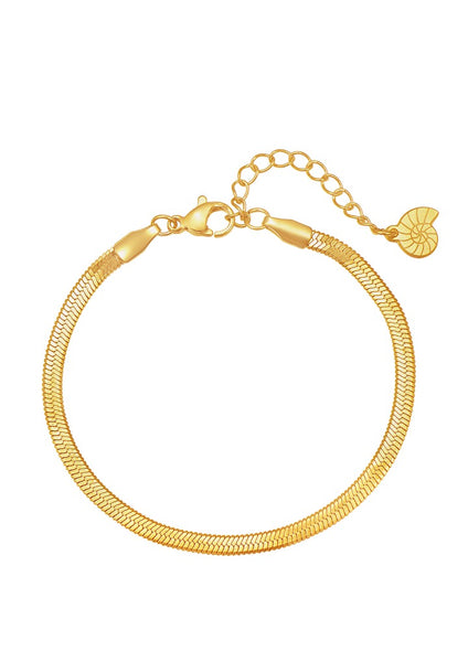 Happiness Boutique Snake Chain Bracelet - Gold