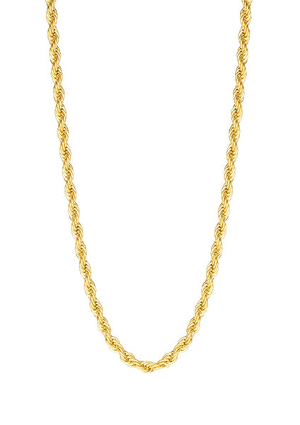 Happiness Boutique Twisted Rope Chain Necklace - Gold