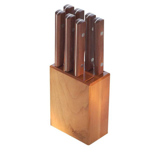"5"" Steak Knives In A Counter Block (Set of 8) - Warther Cutlery"