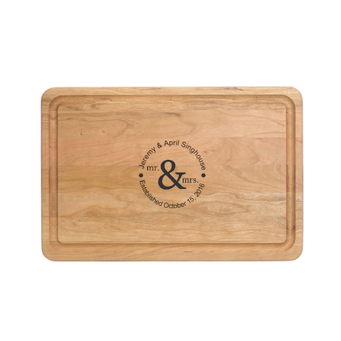 "Custom Engraved - 18"" X 12"" Cutting Board - Warther Cutlery"