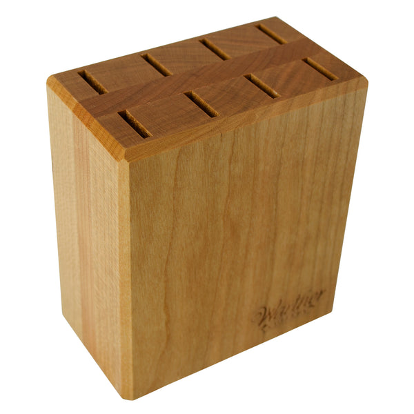 "Counter Block (Empty) - For Set of Eight 3"" Steak Knives - Warther Cutlery"