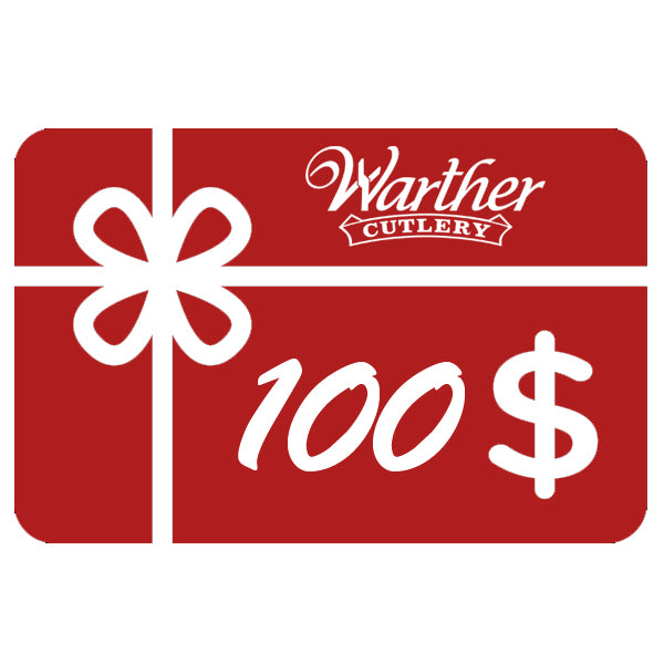 Warther Cutlery $100 Gift Card